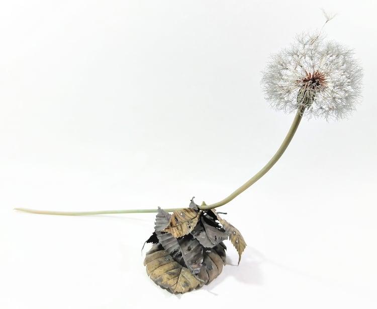 Metal Dandelion Sculpture